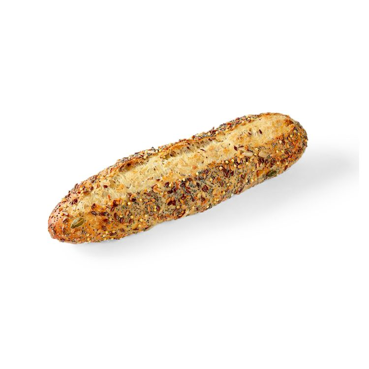 Multiseed half baguette signed by pascal tepper