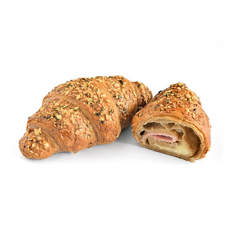 Ham and cheese spelt croissant
