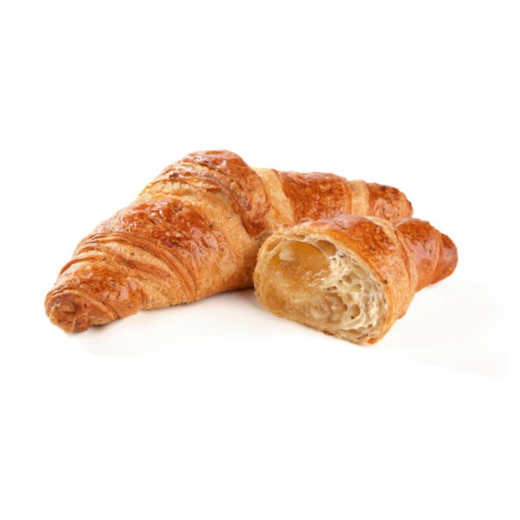 Honey filled seeded croissant