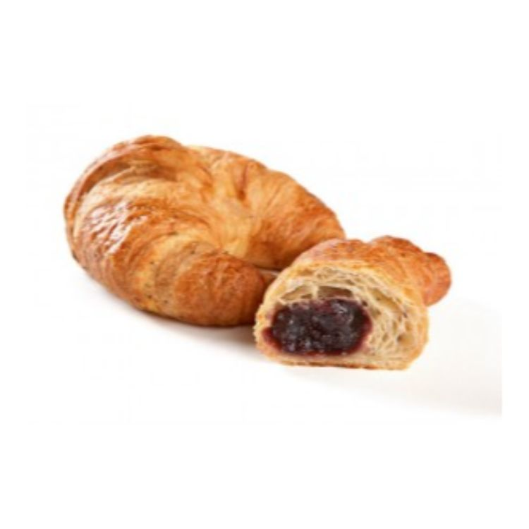 Red fruit filled seeded croissant
