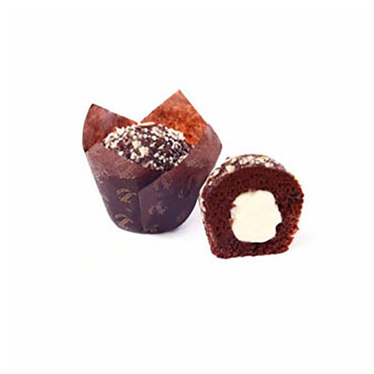 Muffin Tulipano al cioccolato farcito al cioccolato bianco