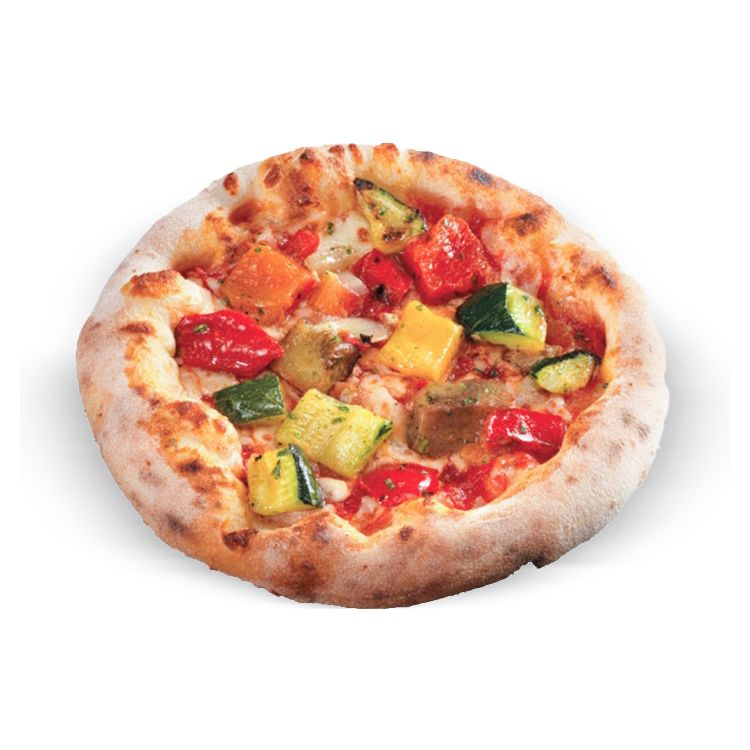 Tomatoes vegetable pizza