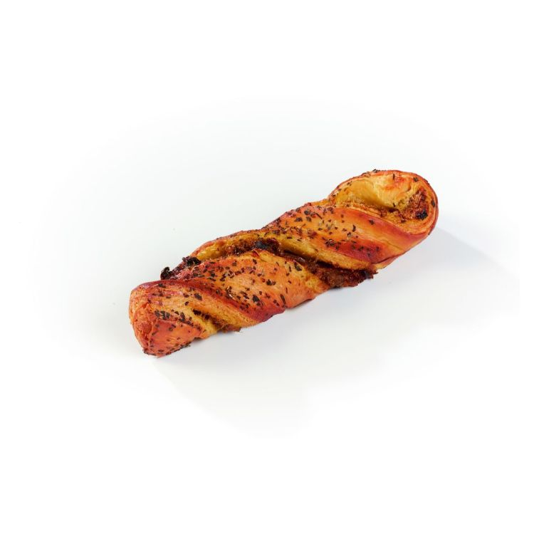 Basil pesto semi dried tomatoes twist