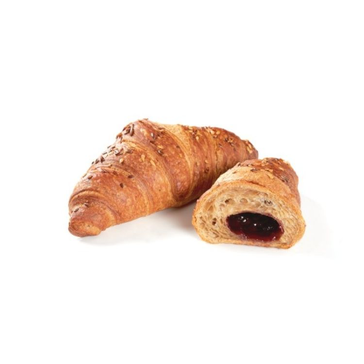 Vegan blueberry filled croissant