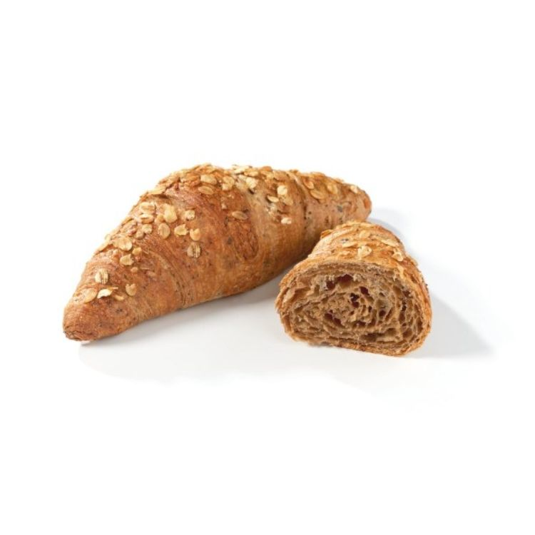 Vegan croissant with oats