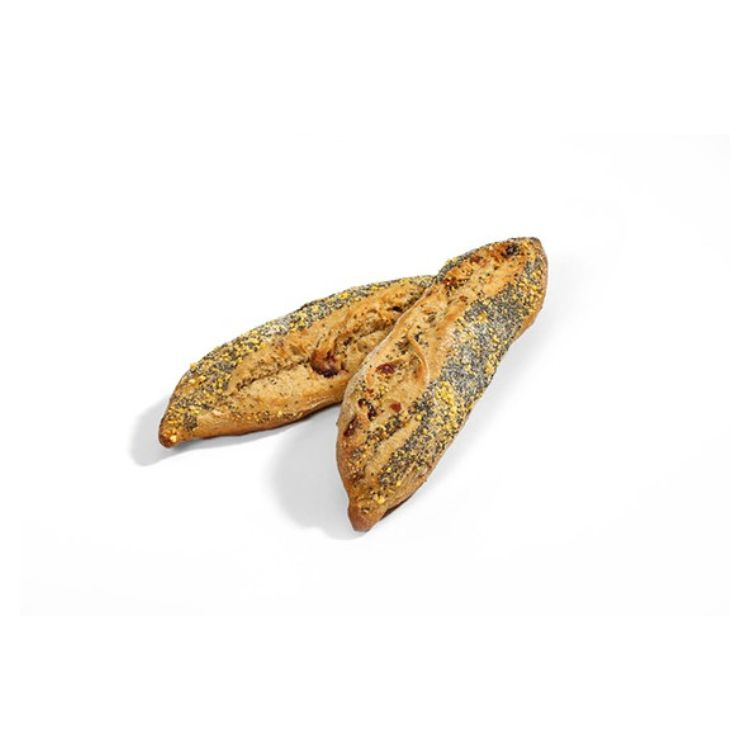 The american half baguette with chia and cranberries