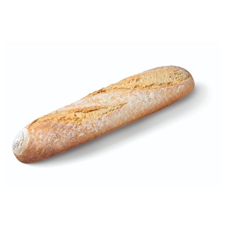 Organic white half baguette