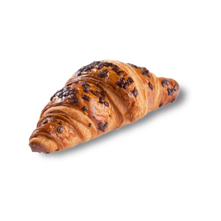 Croissant met boter gevuld met melkchocolade (21%)