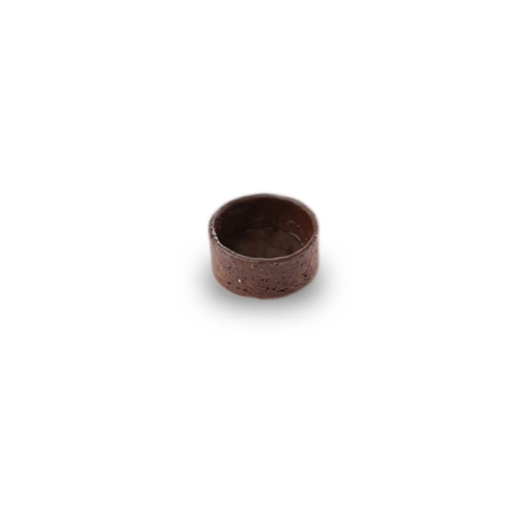 A la folie chocolate tartlet round, 3.8cm