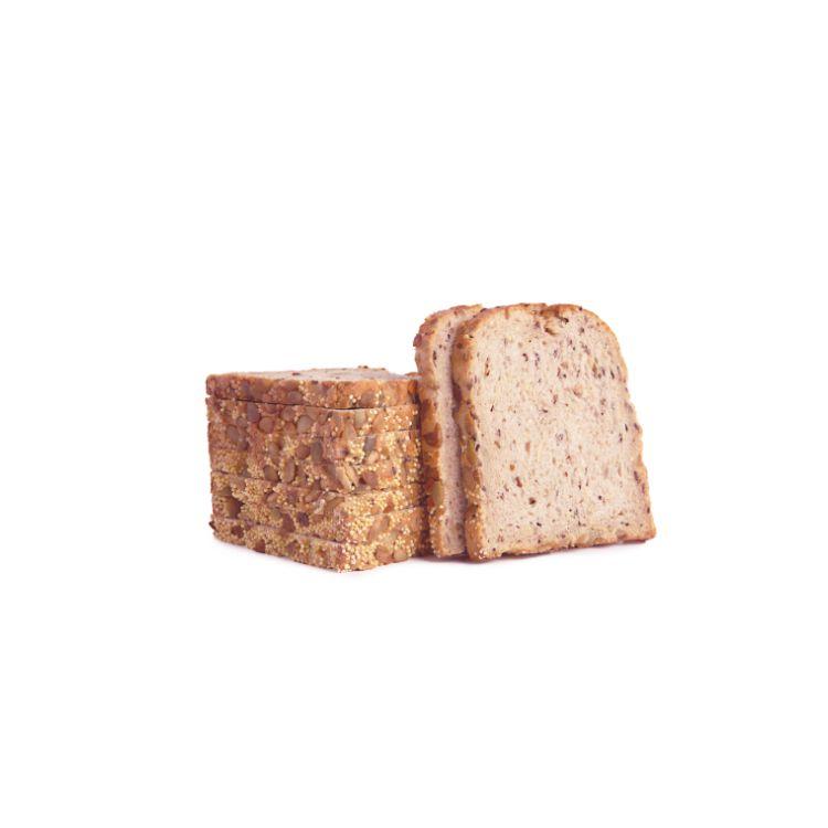 Pane in cassetta con semi e cereali pretagliato