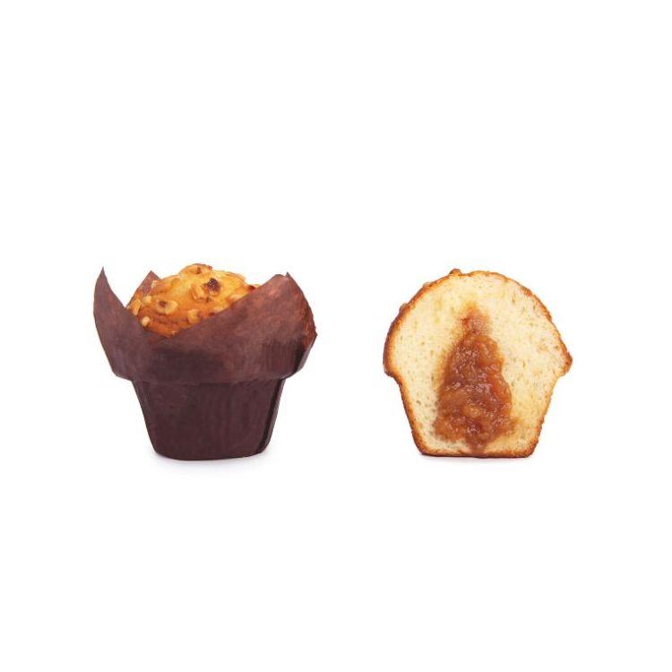 Muffin Relleno de Caramelo y topping de almendra