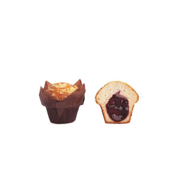 Muffin Relleno de Arándanos