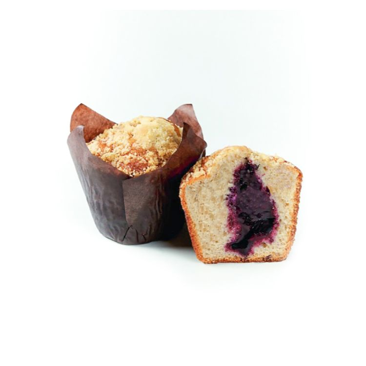 Plain muffin w blueberry filling 90g