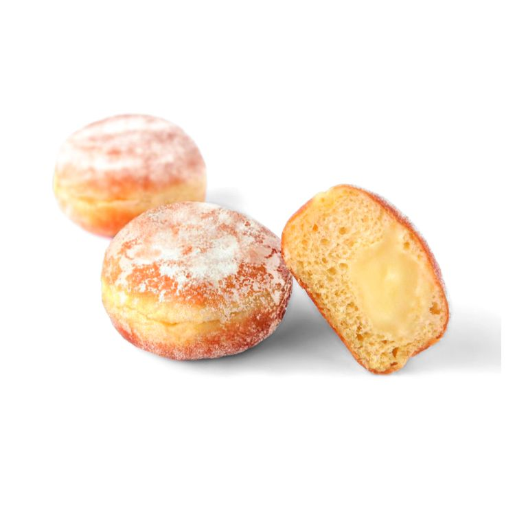 Mini doughnut custard cream filled