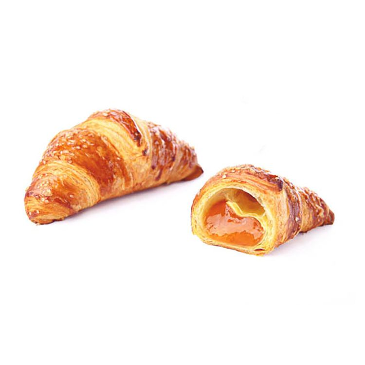 Croissant superfarcito all'albicocca topping zucchero