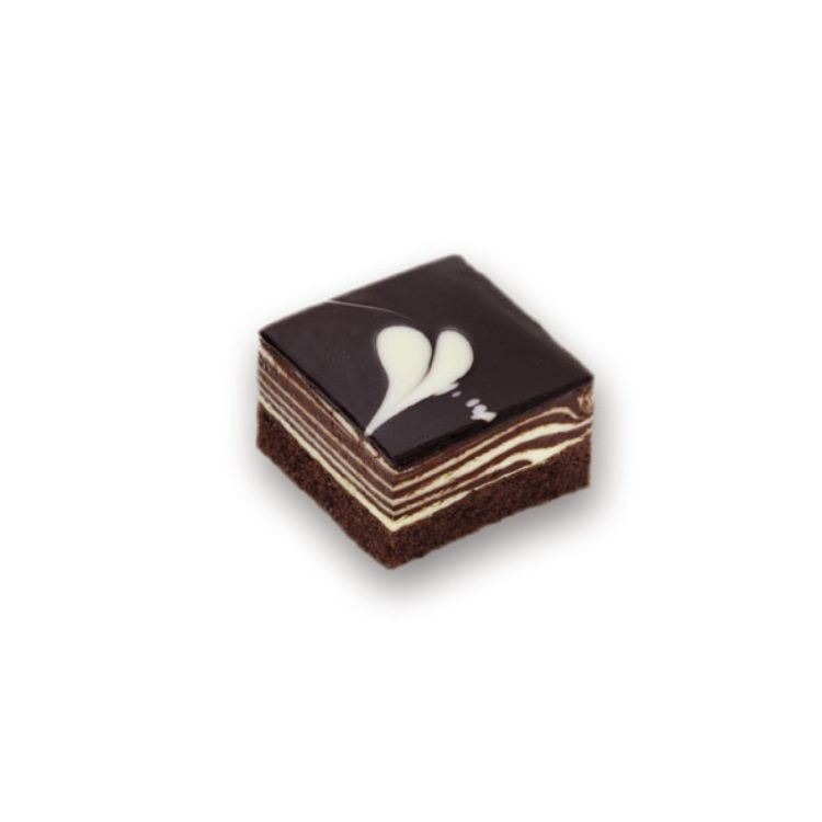 Mousse au chocolat-Schnitte
