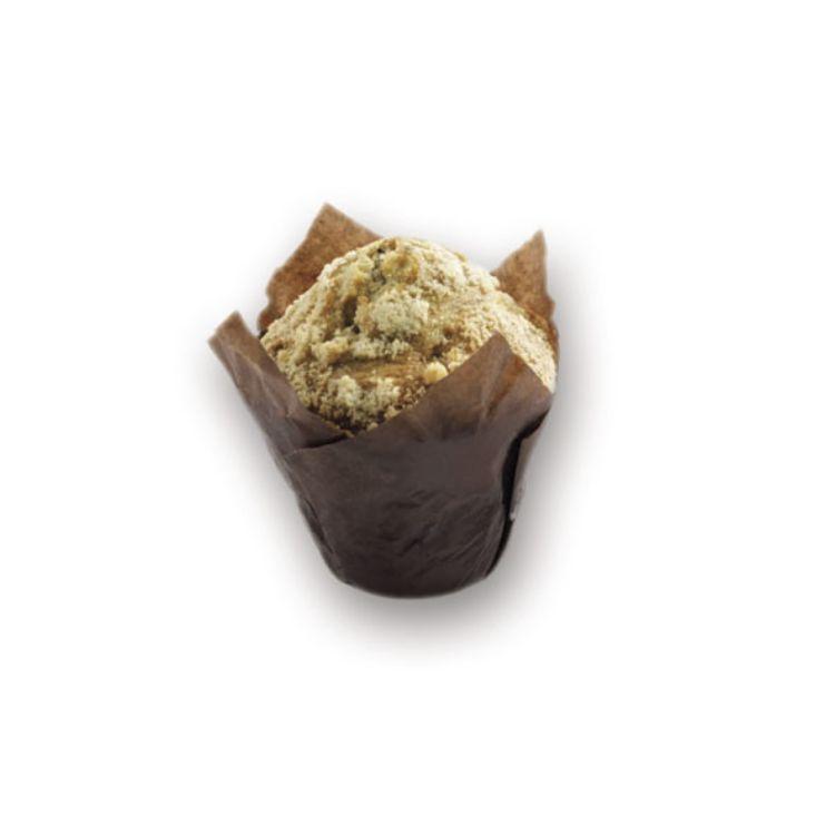 Muffin mit Crumble & Blueberry gefüllt
