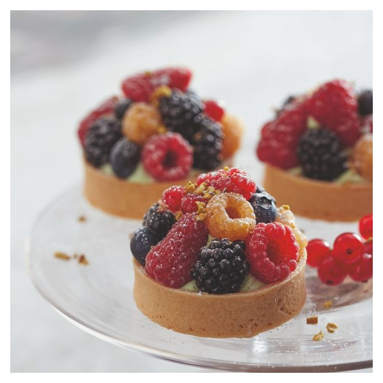 PISTACHIO AND RED FRUIT TART