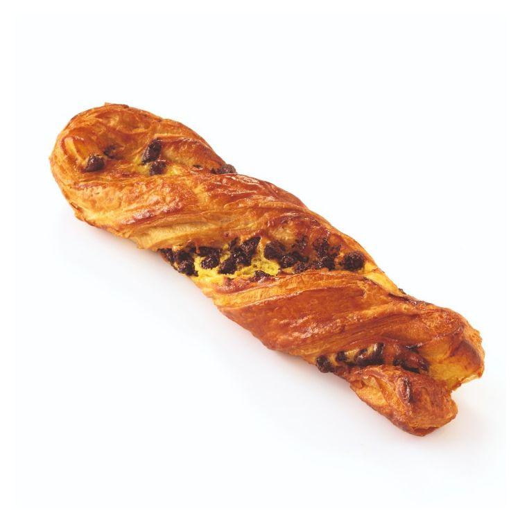 Κρουασάν πλεξούδα με κρέμα & κομμάτια σοκολάτας