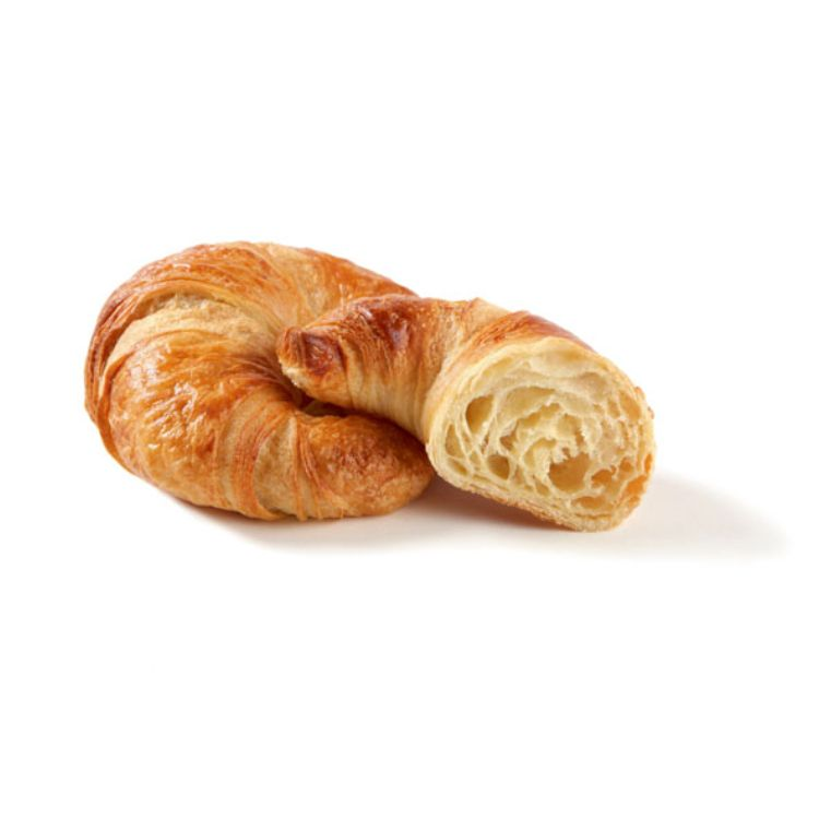 Curved butter croissant