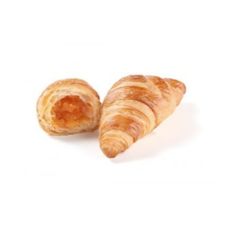 Mini butter croissant apricot filled