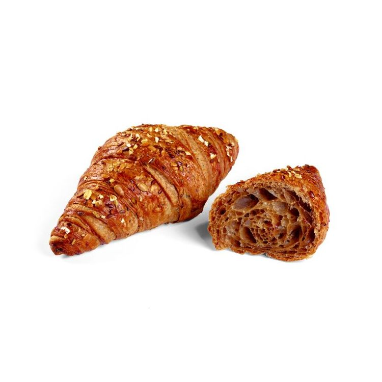 Butter croissant multiseeds brown crumb